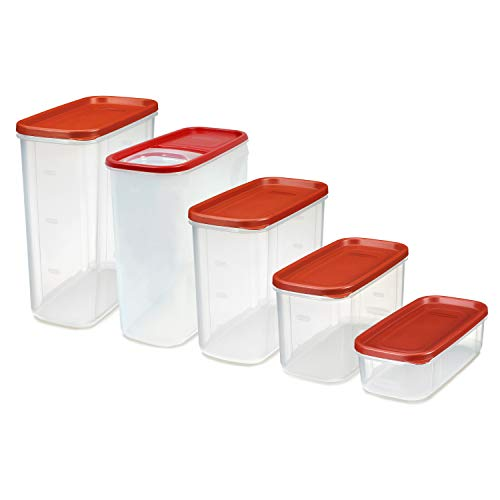 Rubbermaid Modular Premium Food Storage Containers with Lids, 10-Piece, Clear