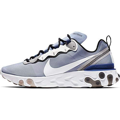 Nike React Element 55, Zapatillas de Atletismo para Hombre, Multicolor (Indigo Fog/White/Mystic Navy/Half Blue 402), 39 EU