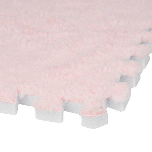 jieGorge 25X25cm Kids Carpet Foam Puzzle Mat EVA Shaggy Velvet Baby Eco Floor 7 colors, Home Textiles Sales (B)