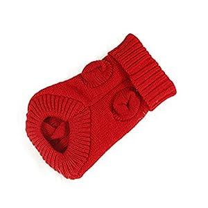 Bismarckbeer Pet Pull en tricot pour chien ou chat Hiver chaud Laine Puppy Cute Pull Chien pour homme
