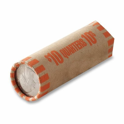 MMF Preformed Tubular Coin Wrappers, Quarters, $10, 1,000 Wrappers per Box (Case of 3)