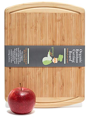 Greener Chef Small Cutting Board for Kitchen - 12 x 9 Inches - Perfect for Smaller Jobs - Bamboo Small Chopping Board - Wood Cutting Boards