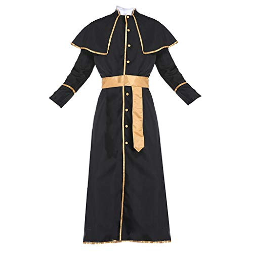 Colcolo Sacerdote Catlico Cardenal Monk Friar Robes Disfraz de Halloween para Hombre - XL