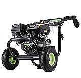 TEANDE 4200PSI Gas Pressure Washer, 209CC Gas Powered Pressure Washer, 3GPM Power Washer with 5 Adjustable Nozzles, Dual soap Tank (Black)