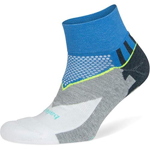 Balega Enduro V-Tech Quarter Socks For Men and Women (1 Pair), Ethereal Blue/White, Large