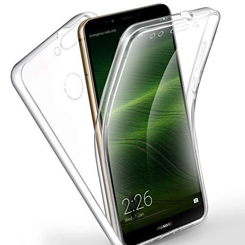 AROYI Huawei Y7 2018 /Honor 7C/ Y7 Prime 2018 Hülle 360 Grad Handyhülle, Silikon Crystal Full Cover [ PC Zurück + TPU Vorderseite] Vorne & Hinten Schutzhülle für Huawei Y7 /Honor 7C/ Y7 Prime 2018