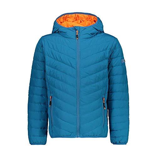 CMP Jungen Steppjacke mit Kapuze und Feel Warm Flat Wattierung, Ottanio, 110, 30Z5774