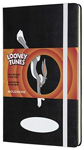 モレスキン ノート 限定版 ノートブック ルーニー・テューンズ (バッグス・バニー) 罫線 ラージ LELTQP060BB