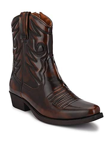 Delize Mens Brown Cowboy Boots