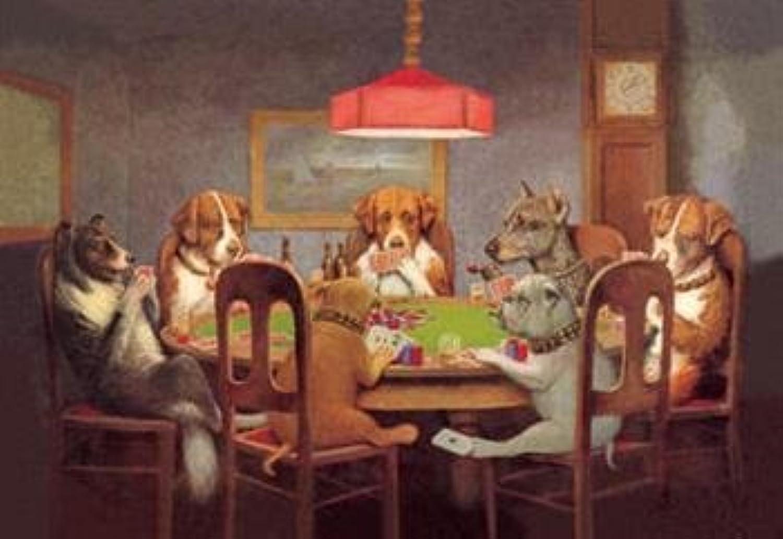 Compra calidad 100% autentica Buyenlarge 00000-7P2030 pasando el as as as bajo la mesa - perro Poker 20 x 30 Póster  marca