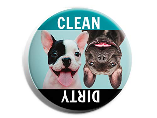 French Bulldog Magnet Dishwasher Clean Dirty - Professionally Made in USA - Frenchie Dog Pet Gifts