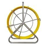 Dispositivo de funcionamiento del cable 4.5Mm 70M Conducto de fibra de vidrio Rodder Guía de cable Cinta de pescado Soporte continuo Carrete Cable de alambre Tirando de la varilla del canal