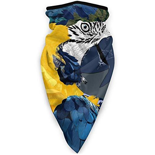 BJAMAJ Digitale Kunst Papegaai Vogels Outdoor Gezicht Mond Mask Winddicht Sportmasker Ski Masker Schild Sjaal Bandana Mannen Vrouw