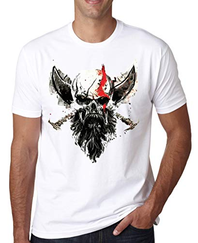 ShutUp Co. Skull Kratos Camiseta para Hombre