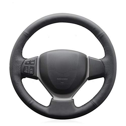 MDHANBK Funda para volante de coche cosida a mano, para Suzuki Swift 2011-2017 Vitara Celerio 2015-2019 SX4 S-Cross 2013-2019
