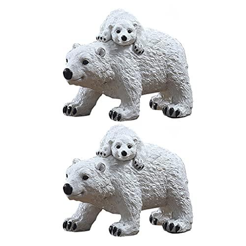 YHYH Hucha Diseño Creativo De Oso para Madre E Hijo Banco De Monedas Animal Lindo Banco De Ahorro De Dinero para Niños Niño Niña (Color : 2pcs)