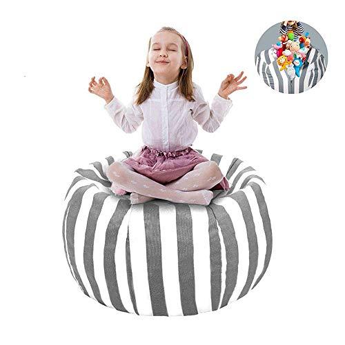 """UMYMAYDO1 38"""" Stofftier Kuscheltiere Aufbewahrung Aufbewahrungstasche Sitzsack Kinder Soft Pouch Stoff Stuhl (Gray)"""
