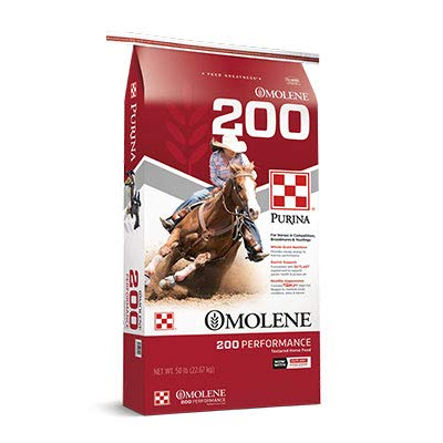 Purina | Omolene #200 Performance Horse Feed | 50 pounds (50 lb) Bag