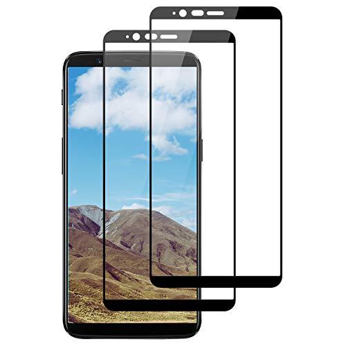 DOSNTO 2 Pack Protection écran pour OnePlus 5T Verre trempé 3D Couverture Complète Premium Film 9H Dureté Anti-Rayures Ultra Clair sans Bulles Protection Ecran pour OnePlus 5T
