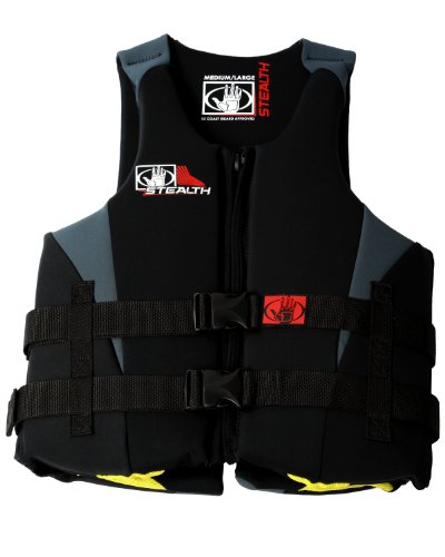 Body Glove Men's Stealth U.S. Coast Guard Approved Neoprene Pfd Life Vest (Black/Charcoal, X-Large/XX-Large)