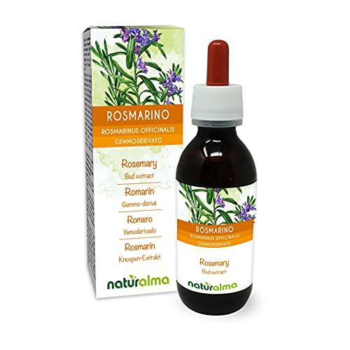 Rosmarino (Rosmarinus officinalis) Gemmoderivato analcoolico da giovani getti freschi NATURALMA | Estratto liquido gocce 120 ml | Integratore alimentare | Vegano