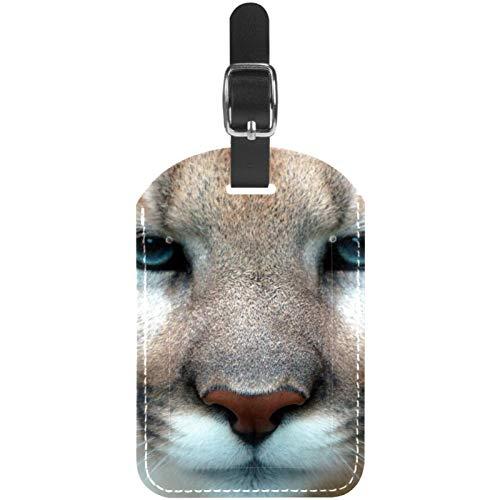 Lot de 1 étiquettes de bagage en cuir de Cougar