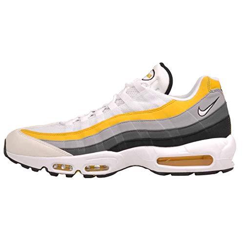 Nike Men's Air Max '95 Track & Field Shoes, Multicolour White/Amarillo/Dark Grey 100, 7.5 UK