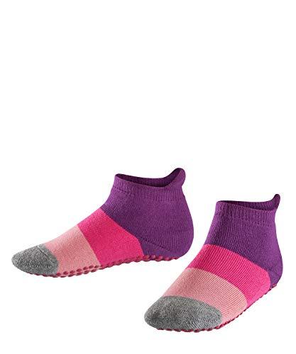 FALKE Kinder Stoppersocken Colour Block - 90prozent Baumwolle, 1 Paar, Violett (Crocus 6962), Größe: 27-30