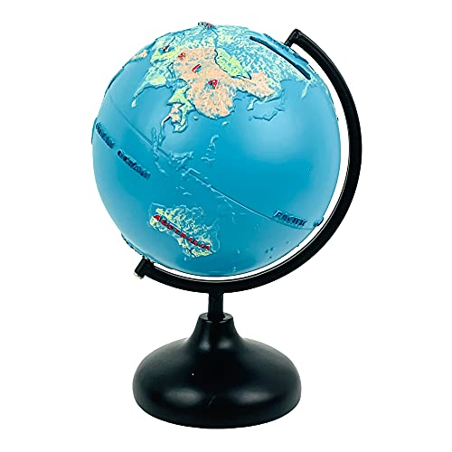 Educational World Globe Spinning Coin Bank with Stand for Kids or Adults, 9 Inches