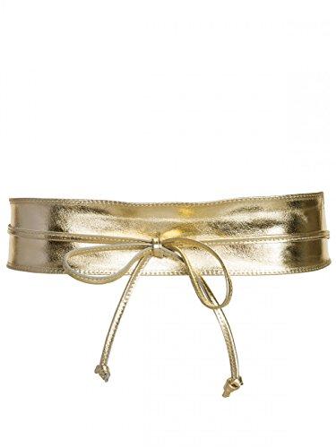 CASPAR GU285 Damen Leder Wickelgürtel, Größe:One Size, Farbe:gold metallic