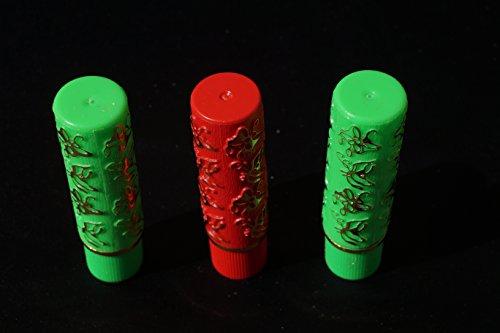 Neue Pack Lippenstift MAGICOS 3Stück (2grün + rot) duraderos- aromaticos- von einem rosa/fuchsia