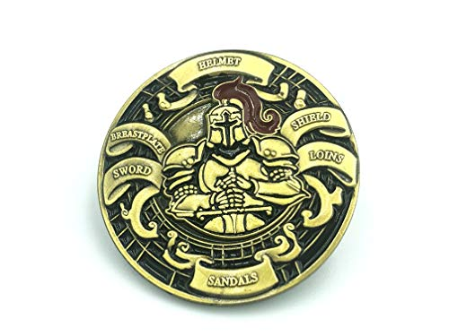 Patch Nation Put on The Full Armor of God Masonic Freimaurer Cosplay Metall Button Badge Pin Brosche Abzeichen (Roter Ritter)