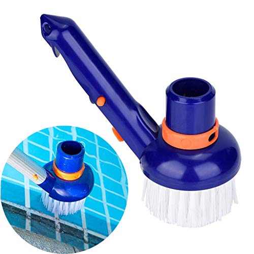 """Glumes Pool Vacuum Brush Best for Above Ground & Inground Swimming Pools,Fine Bristles - Connects to Standard 1-1/2"""" Vacuum Hose and 1-1/4"""" Poles - Clean Corners,Steps,Stairs,Spa Jets"""