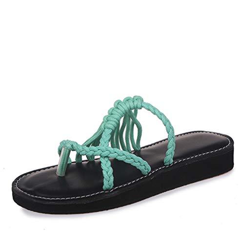 Femmes Casual Plate-Forme Thong Sandals Cross-Slip Slip Confort sur Slip Clip Casual Toe Tongs
