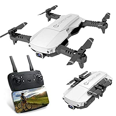 DaMohony Foldable FPV Drone with 4K Camera for Adults, 5G WiFi FPV Drone Live Video for Beginners, Double Shot Switching | 10 Mins Flight Time | Phone Control | Gesture Photo | VR Vision