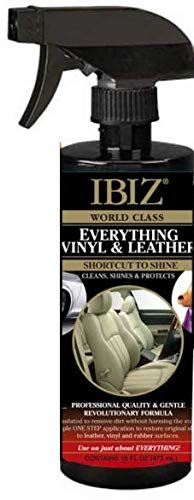 IBIZ Leather Car Cleaner for Car Leather Car Seats, Couches & More (Leather & Vinyl). Easy-to-Use, Premium, Professional Grade.