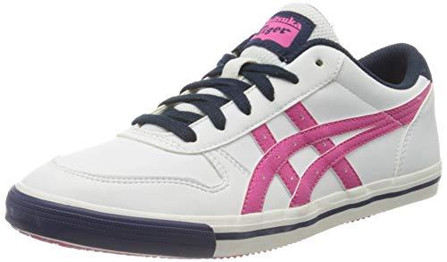 ASICS Aaron GS Jungen Sneaker, Mehrfarbig - Weiß/Rosa/Marineblau - Größe: 37.5 EU