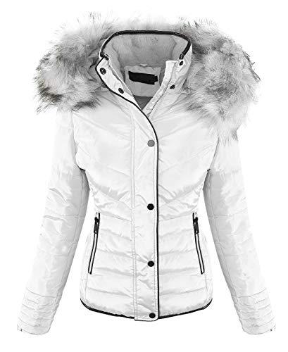 Rock Creek Designer Damen Winter Jacke Steppjacke Stepp Winterjacke Kapuze Kunstfell D-405