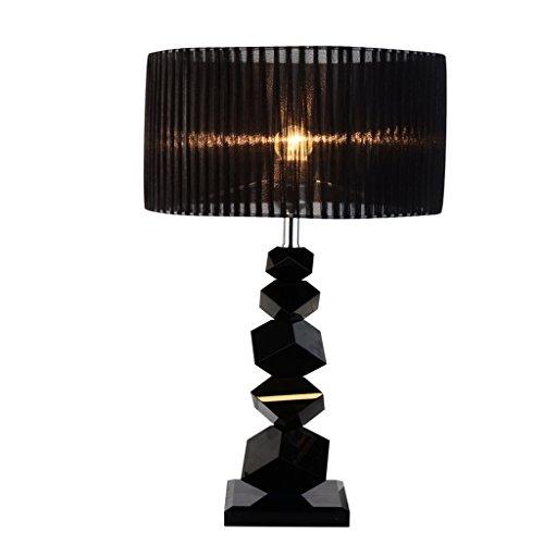 Bonne chose lampe de table Lampe de table moderne simple en cristal noir chambre à coucher lampe de chevet Creative Jane lampe européenne (Couleur : 55 * 30cm)