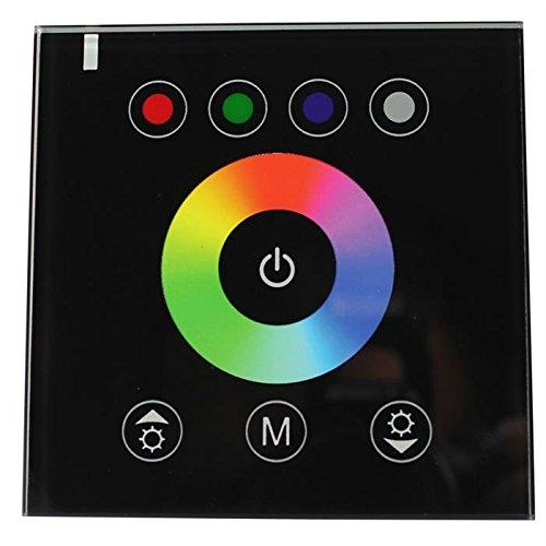 RGBW LED Wand Touch Panel Controller 12.24V 384W Glas Design Optik für Farbwechsel Streifen 5-Pin