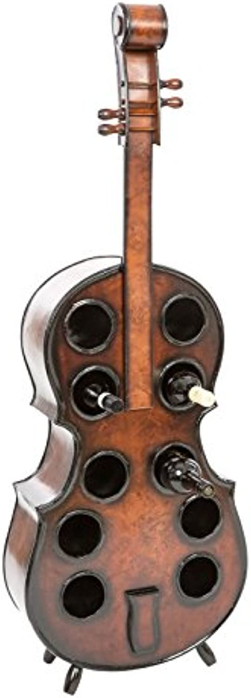 Aubaho Flaschenregal Cello 135cm Holz Weinregal Kontrabass Weinstnder Regal Flasche