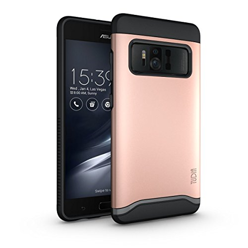 TUDIA Asus ZenFone AR Hülle, Slim-Fit Merge Dual Layer Schutzhülle für Asus ZenFone AR (ZS571KL) (Rose Gold)