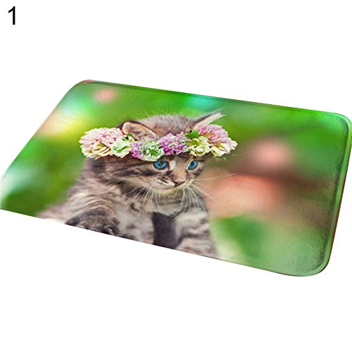 Price comparison product image yanQxIzbiu Super Soft Indoor Rugs Living Room Carpets Cute 3D Cat Animal Bathroom Kitchen Door Anti-Slip Pad Floor Mat Rug Carpet - 1