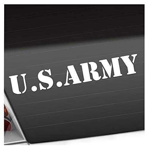 U.S. Army 20 x 3 cm In 15 Farben - Neon + Chrom! JDM Sticker Aufkleber