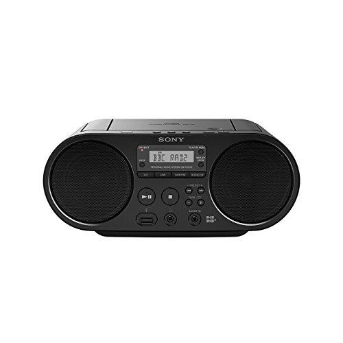 Sony ZS-PS55 Radio/Radio-réveil Lecteur CD MP3 Port USB (compatible radio AM/FM, radio numérique DAB/DAB+) - Noir