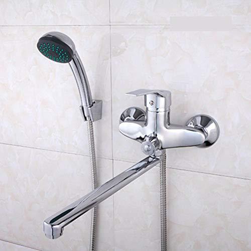 Set 30 cm Länge Steckdose Messing gedreht Körper Bad Dusche Duschkopf vier Griffoptionen Badewanne Duschkopf Badewanne Wasser Mixer Chrom poliert D
