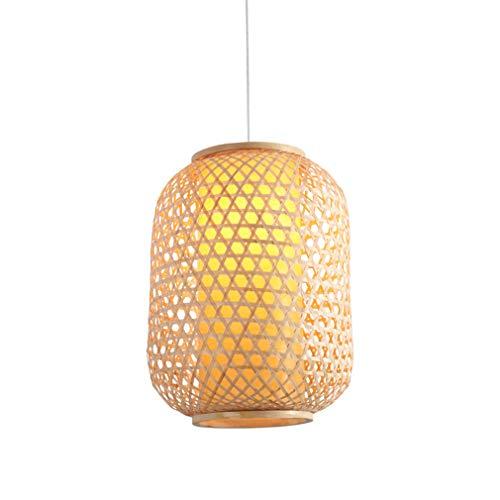 OMGPFR hanglamp, retro-industrie, bamboestof, hanglamp, hanglamp, hanglamp, E27, voor bar, woonkamer, slaapkamer, lichte hanglamp