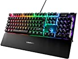 SteelSeries Apex 5 - Hybrid-Mechanische Gaming Tastatur - Tastenweise Rgb-Beleuchtung - Oled Smart-Display - Deutsches (Qwertz) Layout [