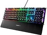 SteelSeries Apex 5 - Hybrid-Mechanische Gaming Tastatur - Tastenweise RGB-Beleuchtung - Oled Smart-Display - Deutsches (QWERTZ) Layout