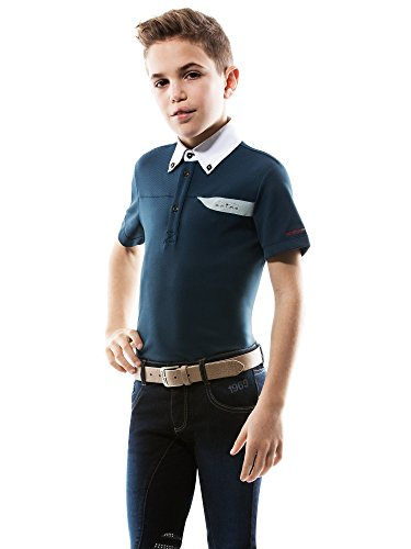 Animo Kinder Turniershirt Boy\'s Polo Atommy, Fb. Safari, 12 Jahre, NEU